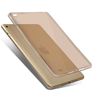 Voor apple ipad mini 4 case hoesje transparante achterhoes hoesje vaste kleur zachte tpu