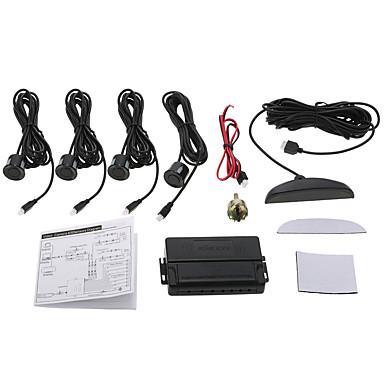 Kkmoon auto auto 4-sensor parkeerradar kit omgekeerde radar alarm systeem