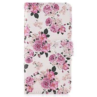 غطاء من أجل LG G3 LG LG G5 حامل البطاقات محفظة مع حامل قلب غطاء كامل للجسم زهور قاسي جلد PU إلى LG G6