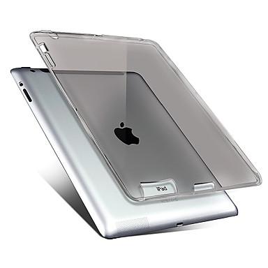 Pour Etuis coque Transparente Coque Arrière Coque Couleur unie Flexible PUT pour Apple iPad 4/3/2