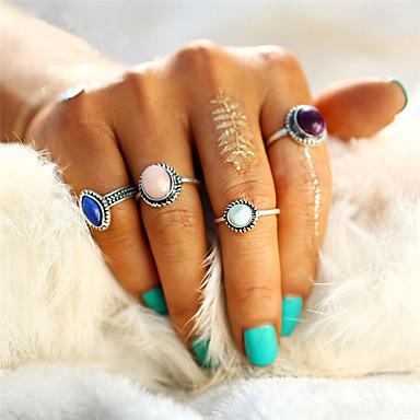 للمرأة خاتم - تصميم فريد, قديم, دائرة قياس واحد فضي من أجل هدايا عيد الميلاد / زفاف / حزب