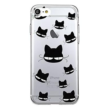 hoesje Voor Apple Patroon Achterkantje Tegel Kat Cartoon Zacht TPU voor iPhone 7 Plus iPhone 7 iPhone 6s Plus iPhone 6 Plus iPhone 6s