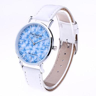 Dames Modieus horloge Kwarts Leer Band Informeel Zwart Wit Bruin