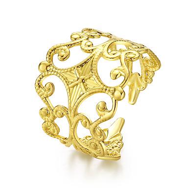 Dames Ring Sieraden Cirkelvormig ontwerp Klassiek Cirkel Vriendschap Euramerican Eenvoudige Stijl Zilver Rond Sieraden Bruiloft Kantoor /