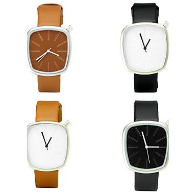 Herrn Modeuhr Armbanduhr Armbanduhren für den Alltag Chinesisch Quartz / PU Band Luxus Retro Freizeit Elegant Schwarz Braun