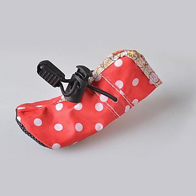 Hond Schoenen & Laarzen Waterdicht Polka dot Roos Rood Blauw Roze Voor huisdieren