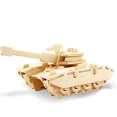 قطع تركيب3D تركيب تركيب معدني الخشب نموذج ألعاب دبابة 3D اصنع بنفسك خشب الخشب الطبيعي غير محدد الفتيان قطع