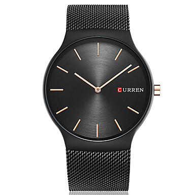 CURREN Herrn Einzigartige kreative Uhr Armbanduhren für den Alltag Modeuhr Armbanduhr Quartz Großes Ziffernblatt Edelstahl Band Luxus