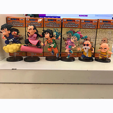 Anime Action Figures geinspireerd door Dragon Ball Son Goku 8 CM Modelspeelgoed Speelgoedpop