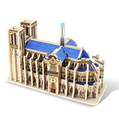 Robotime قطع تركيب3D تركيب النماذج الخشبية بناء مشهور معمارية 3D اصنع بنفسك خشب كلاسيكي 6 سنوات فما فوق