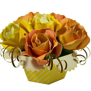 Kit Lucru Manual Puzzle 3D Modelul de hârtie Jucarii Pătrat Trandafiri 3D Reparații Simulare Ne Specificat Bucăți