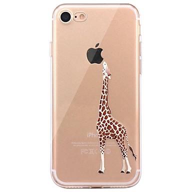 Hülle Für Apple iPhone X iPhone 8 Transparent Muster Rückseite Spaß mit dem Apple Logo Tier Weich TPU für iPhone X iPhone 8 Plus iPhone 8