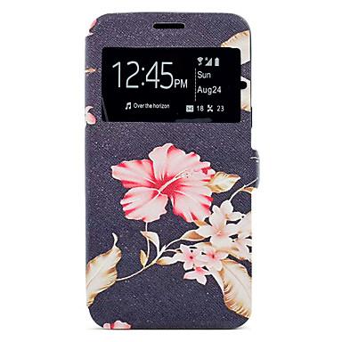 Hülle Für Samsung Galaxy A5(2017) A3(2017) Kreditkartenfächer mit Halterung Muster Handyhülle für das ganze Handy Blume Hart Kunst-Leder