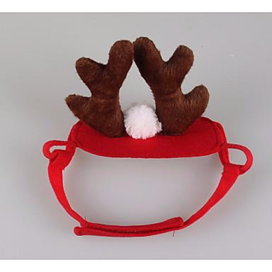 Katze Haar Accessoires Hundekleidung Cosplay Weihnachten Rentier Rot Kostüm Für Haustiere