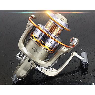 Fishing Reel Bearing Spinne-hjul 5.2:1 Gear Forhold+12 Kulelager Hånd Orientering Byttbar Ferskvannsfiskere / Lokke Fiske / Generelt fisking - ST3000 / Trolling- & Båtfiskeri