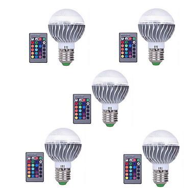 3W E27 Bulbi LED Inteligenți A60(A19) 1 LED-uri LED Integrat Intensitate Luminoasă Reglabilă Telecomandă Decorativ RGB 300lm 3000-6500K