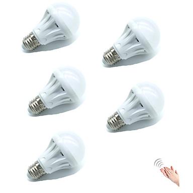 5W 450lm E27 Smart LED Glühlampen A70 18 LEDs SMD 2835 Sensor Geräusch aktiviert Dekorativ Lichtsteuerung Warmes Weiß Kühles Weiß 6500K