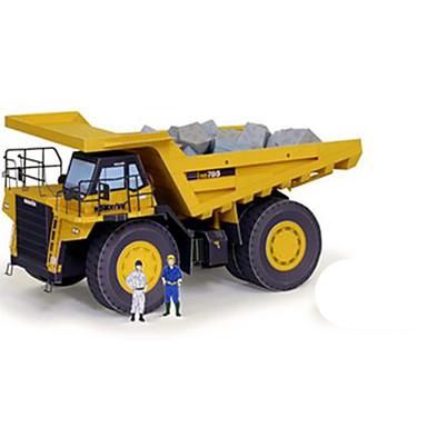 Speelgoedauto's 3D-puzzels Bouwplaat Vierkant Vrachtwagen 3D DHZ Hard Kaart Paper Klassiek Truck Jongens Unisex Geschenk