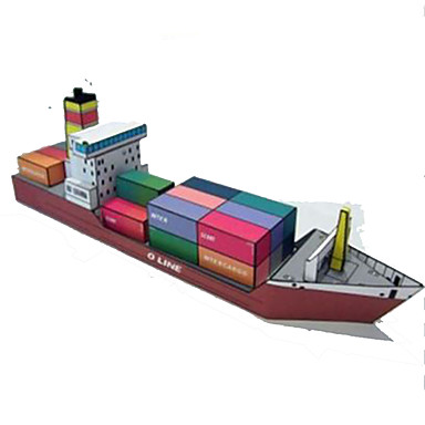 3D - Puzzle Papiermodel Modellbausätze Quadratisch Schiff Heimwerken Hartkartonpapier Klassisch Jungen Unisex Geschenk