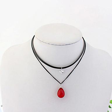 Damen Träne Doppelschicht Modisch Euramerican Halsketten Acryl Aleación Halsketten . Alltag Normal
