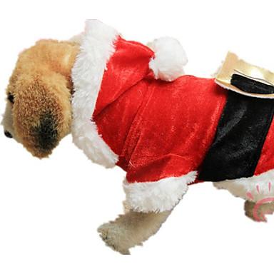 كلب ازياء تنكرية ملابس الكلاب عيد الميلاد متين أحمر