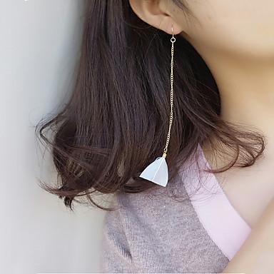 Damen Tropfen-Ohrringe Modisch Euramerican Feder Aleación Dreieck Schmuck Alltag Normal
