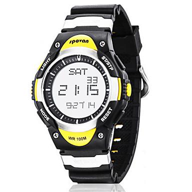 Herrn Smart Uhr Modeuhr digital Wasserdicht Caucho Band Schwarz Blau
