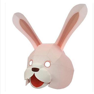 Mască de Halloween Masca pentru animale Lucru Manual Din Hârtie Jucarii Animale Reparații Rabbit Pătrat 3D Hârtie Rigidă pentru Felicitări