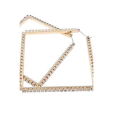للمرأة أقراط قطرة مجوهرات موضة المتضخم سبيكة Geometric Shape مجوهرات من أجل زفاف هدية يوميا فضفاض الفالنتين