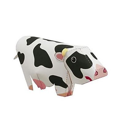 3D-puzzels Bouwplaat Speeltjes Vierkant Cow Dieren DHZ Hard Kaart Paper Niet gespecificeerd Stuks