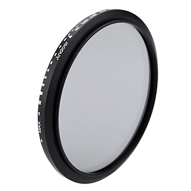 Andoer 82mm nd fader neutrale dichtheid instelbare nd2 naar nd400 variabele filter voor Canon Nikon DSLR camera