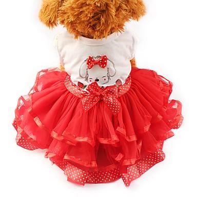 Χαμηλού Κόστους Ρούχα και αξεσουάρ για σκύλους-Γάτα Σκύλος Φορέματα Smoching Ρούχα για σκύλους Φιόγκος Κίτρινο Κόκκινο Πράσινο Σιφόν Βαμβάκι Στολές Για Χάσκυ Λαμπραντόρ Μάλαμουτ Αλάσκας Άνοιξη & Χειμώνας Καλοκαίρι Γυναικεία Πάρτι Καθημερινά Γάμος