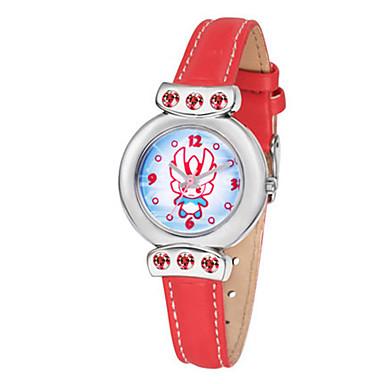 Dames Modieus horloge Kwarts Leer Band Rood
