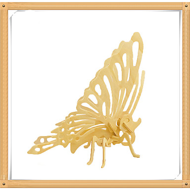 3D-puzzels Legpuzzel Houten modellen Modelbouwsets Vlinder 3D Dieren DHZ Puinen Hout Kinderen Geschenk
