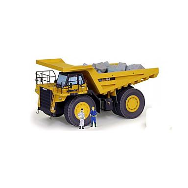 لعبة سيارات قطع تركيب3D تركيب أشغال الورق شاحنة 3D اصنع بنفسك كلاسيكي سيارة الحفريات Dozer للجنسين هدية