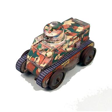 لعبة سيارات قطع تركيب3D نموذج الورق ألعاب مربع دبابة ورق صلب غير محدد قطع