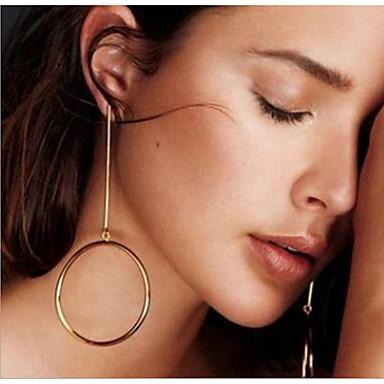 Dames Druppel oorbellen - Modieus Goud Zilver Rond oorbellen Voor Dagelijks