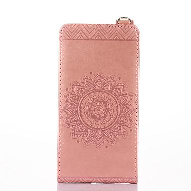 Für nokia lumia 650 640 case cover card holder mit stand flip geprägt full body case solide farbe blume hartes pu leder für lumia 535 630