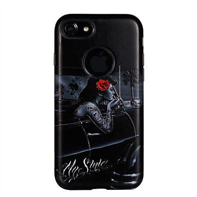 Hülle Für Apple Stoßresistent Geprägt Muster Rückseitenabdeckung Wort / Satz Sexy Lady Blume Hart PC für iPhone 7 plus iPhone 7 iPhone 6s