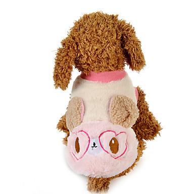Câine Hanorca Îmbrăcăminte Câini Desene Animate Albastru Roz Material Din Fâș Costume Pentru animale de companie Casul/Zilnic