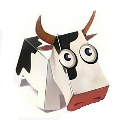 قطع تركيب3D نموذج الورق أشغال الورق مجموعات البناء Cow الحيوانات اصنع بنفسك ورق صلب كلاسيكي كرتون للأطفال للجنسين هدية