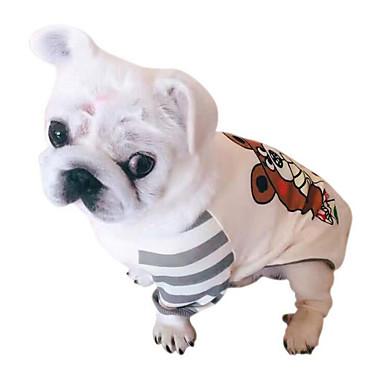 كلب كنزة ملابس الكلاب متنفس كاجوال/يومي بريطاني أسود رمادي كوستيوم للحيوانات الأليفة