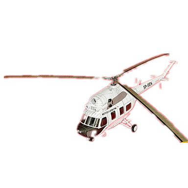 3D - Puzzle Papiermodel Helikopter Spielzeuge Quadratisch Helikopter Heimwerken Hartkartonpapier keine Angaben Stücke