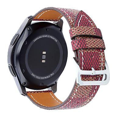 Horlogeband voor Gear S3 Frontier Gear S3 Classic Samsung Galaxy Klassieke gesp Echt leer Polsband