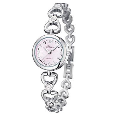 Damen Modeuhr Einzigartige kreative Uhr Quartz Legierung Band Silber Gold