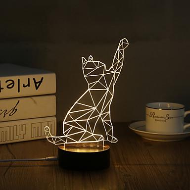 Decorațiuni Luminoase LED-uri de lumină de noapte-0.5W-USB Decorativ - Decorativ