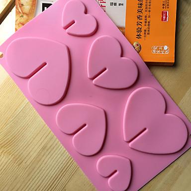 قوالب الكيك بدعة شكل قلب لأواني الطبخ لالخبز لالشوكولاته لكعكة أداة الخبز جودة عالية المطبخ الإبداعية أداة