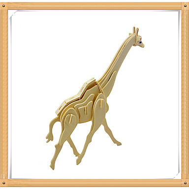 3D - Puzzle Holzpuzzle Holzmodell Modellbausätze Spielzeuge Tiere Hirsch 3D Tiere Heimwerken Hölzern Holz Kinder Stücke