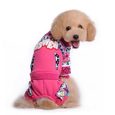 Hond Sweatshirt Hondenkleding Ademend Casual/Dagelijks Sneeuwvlok Blauw Roze Kostuum Voor huisdieren
