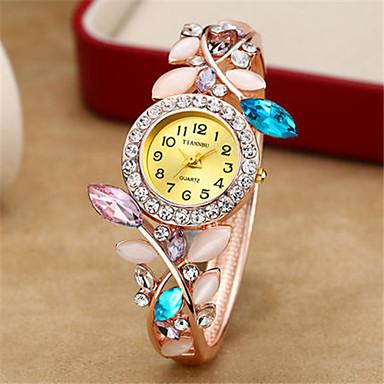 Dames Modieus horloge Polshorloge Kwarts Legering Band Blauw Bruin